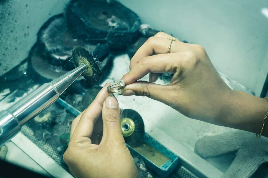 Polishing Jewellery