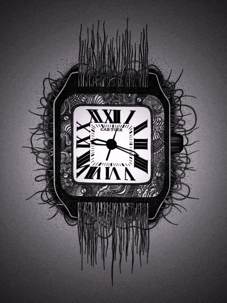 Cartier watch illustration
