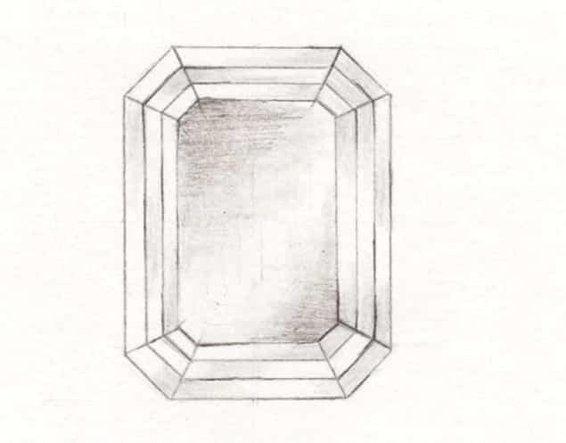 Emerald Cut diamond replacement