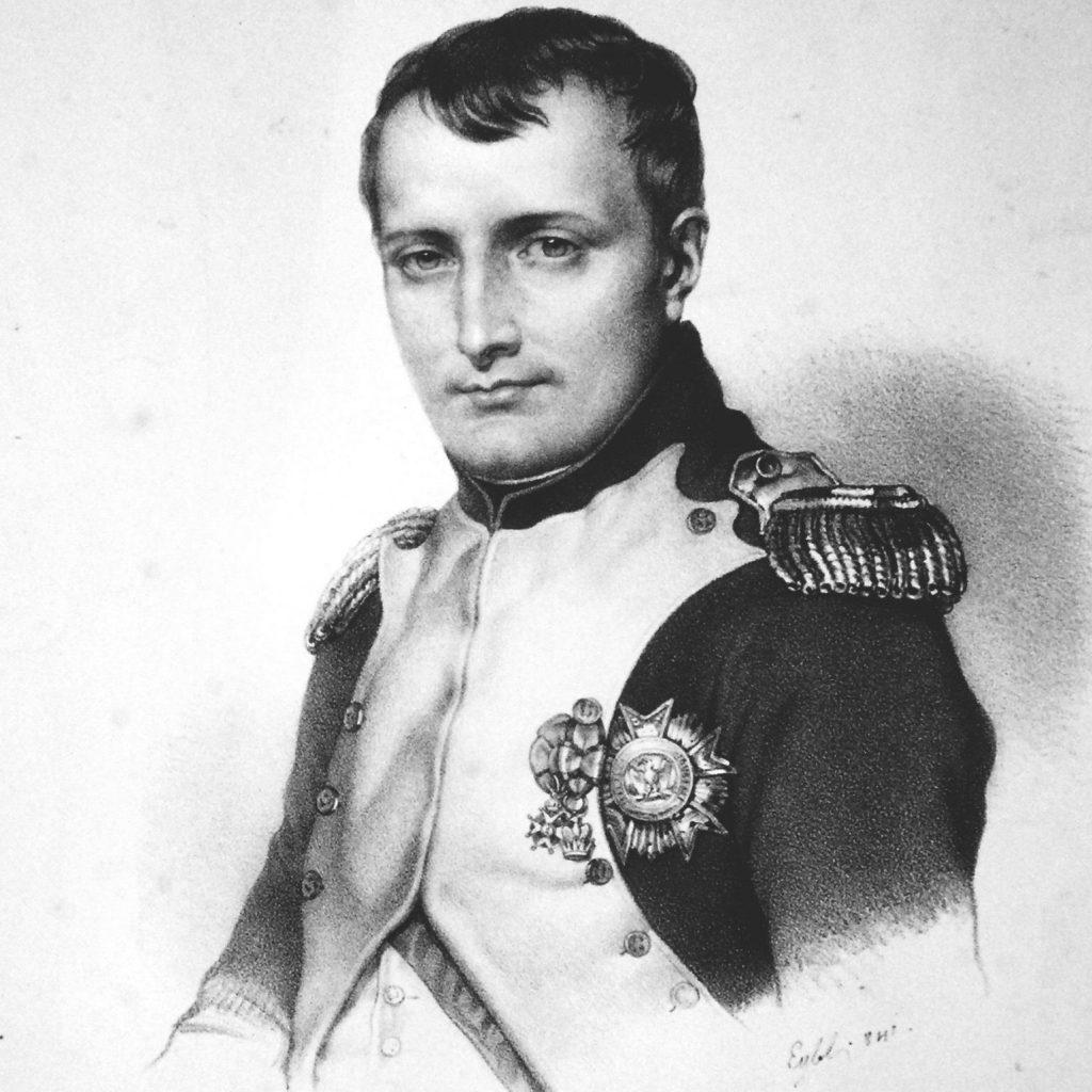 Napoleon Bonaparte getting help with Breguet watch