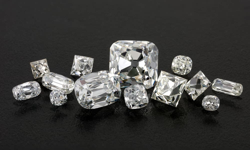 old cut diamond missing