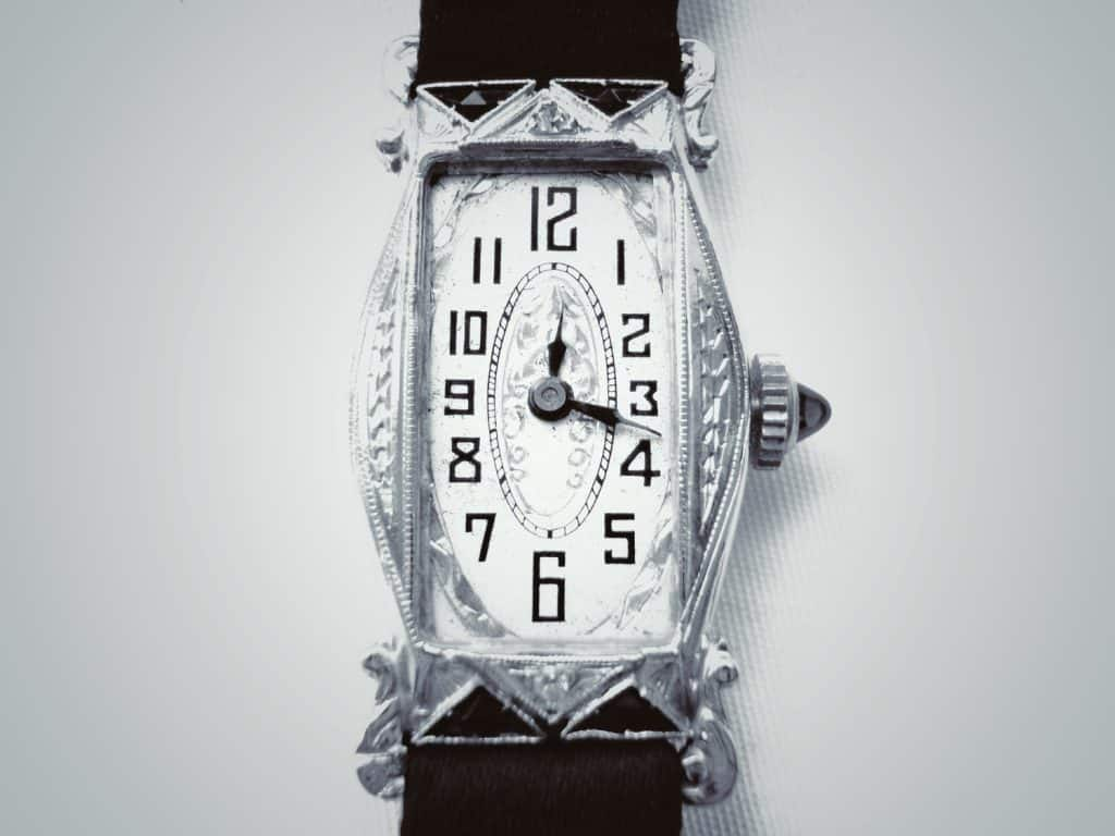 White gold art deco watch repair