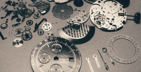 Breitling Watch service and dismantling of movement